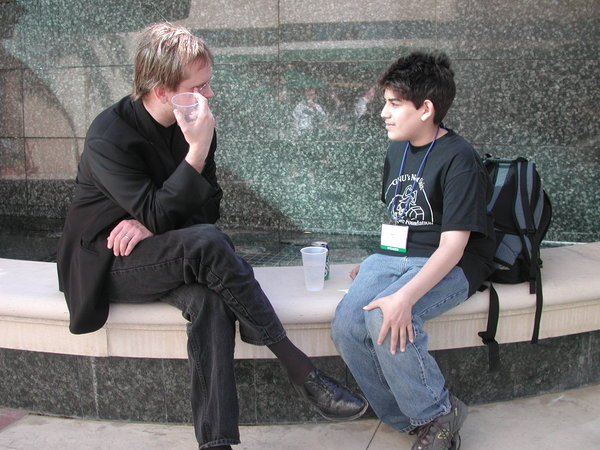 Lawrence Lessig and Aaron Swartz (2002) / Rich Gibson / CC BY