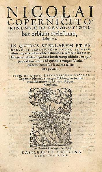 De Revolutionibus Orbium, by Copernicus, 2nd edition. 1566.