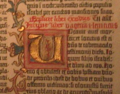 Detail of a Gutenberg Bible
