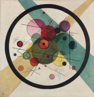 A later Kandinsky: Circles in a Circle (1923). (source)