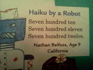 Haiku by a Robot. (source)