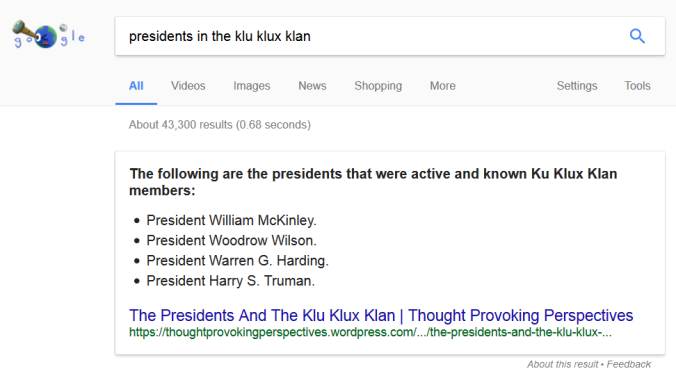 presidents-in-the-klu-klux-klan-search